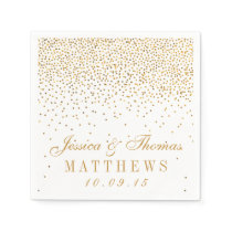The Vintage Glam Gold Confetti Wedding Collection Paper Napkin