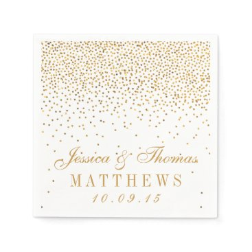 Invitation_Republic The Vintage Glam Gold Confetti Wedding Collection Paper Napkin