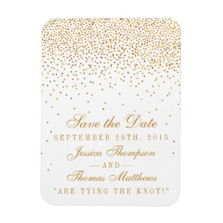 The Vintage Glam Gold Confetti Wedding Collection Rectangular Photo Magnet