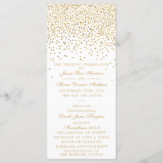 The Vintage Glam Gold Confetti Wedding Collection Program