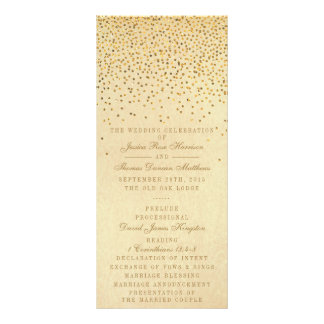 The Vintage Glam Gold Confetti Wedding Collection Rack Card