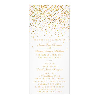 The Vintage Glam Gold Confetti Wedding Collection Customized Rack Card