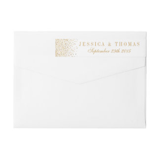 The Vintage Glam Gold Confetti Wedding Collection Wrap Around Label