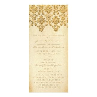 The Vintage Glam Gold Damask Wedding Collection Custom Rack Card