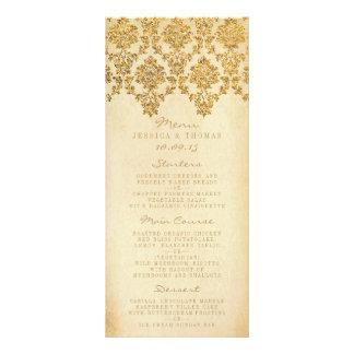 The Vintage Glam Gold Damask Wedding Collection Rack Cards