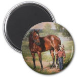 The Vintage Horse 2 Inch Round Magnet