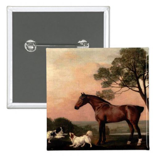 The Vintage Horse 2 Inch Square Button