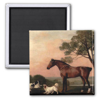 The Vintage Horse 2 Inch Square Magnet