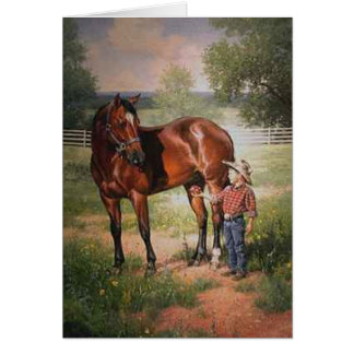 The Vintage Horse Card