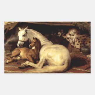 The Vintage Horse Rectangular Sticker