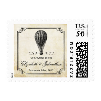 The Vintage Hot Air Balloon Wedding Collection Postage