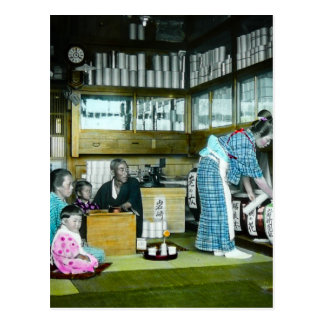 The Vintage Japanese Tea Merchant Old Japan Postcard
