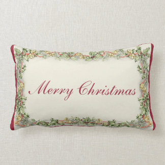 The Vintage Merry Christmas Rectangular Pillow