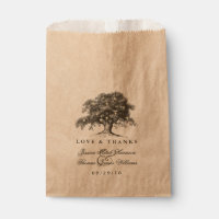 The Vintage Old Oak Tree Wedding Collection Favor Bag