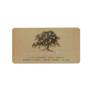 The Vintage Old Oak Tree Wedding Collection Label