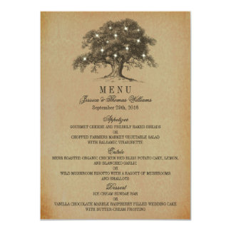 The Vintage Old Oak Tree Wedding Collection   Menu Card