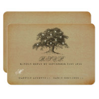 The Vintage Old Oak Tree Wedding Collection - RSVP Card