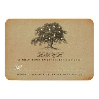 The Vintage Old Oak Tree Wedding Collection - RSVP Card