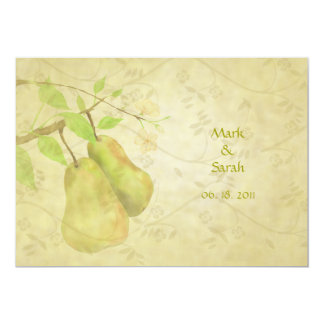 """The Vintage Perfect Pear 5"""" X 7"""" Invitation Card"""