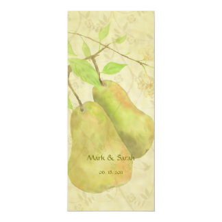 "The Vintage Perfect Pear Invitation 4"" X 9.25"" Invitation Card"