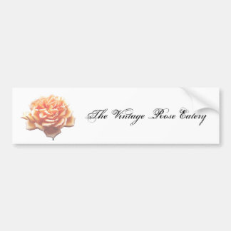 The Vintage Rose Eatery Bumper Sticker Car Bumper Sticker
