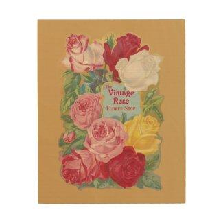 The Vintage Rose Flower Shop Sign