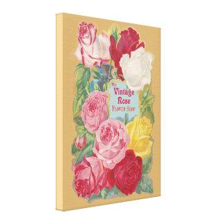 The Vintage Rose Flower Shop Sign Canvas Print