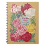 The Vintage Rose Flower Shop Sign Spiral Notebook
