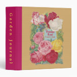 The Vintage Rose Flower Shop Sign Vinyl Binder