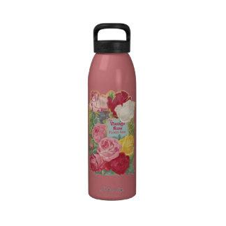 The Vintage Rose Flower Shop Sign Water Bottle
