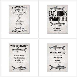 The Vintage Shark Ocean Wedding Collection