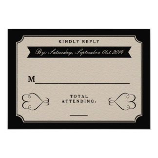 The Vintage Wedding Collection RSVP Cards