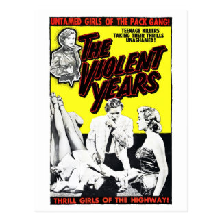 """""""The Violent Years"""" Postcard"""