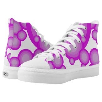 The Violet 70's year styling High-Top Sneakers