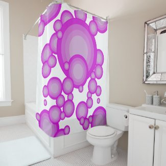 The Violet 70's year styling Shower Curtain