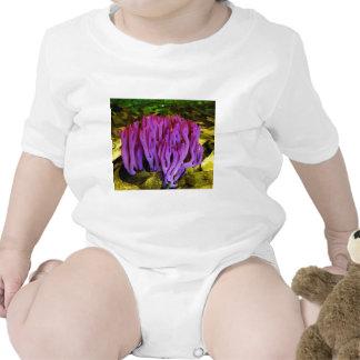 The Violet Coral Fungus Clavaria Zollingeri Bodysuits