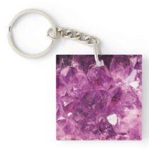 The Violet Crystal Keychain