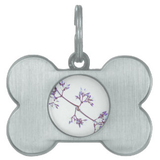 The Violet Flower By The Cat Project Pet ID Tag