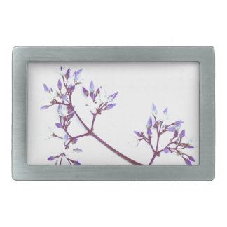 The Violet Flower By The Cat Project Rectangular Belt Buckle