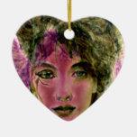 """""""The Violet Warrior"""" Portrait Christmas Ornaments"""