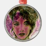"""""""The Violet Warrior"""" Portrait Ornaments"""