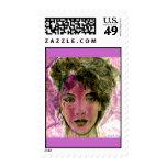"""""""The Violet Warrior"""" Portrait Postage Stamps"""