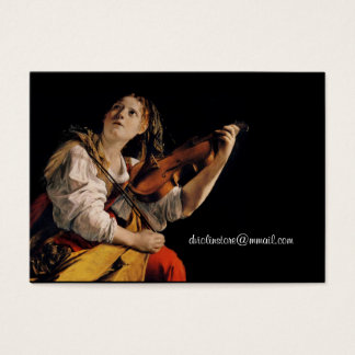 The Violin Player Business Card