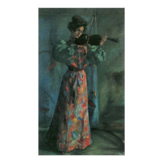 The violin player by Lovis Corinth Poster