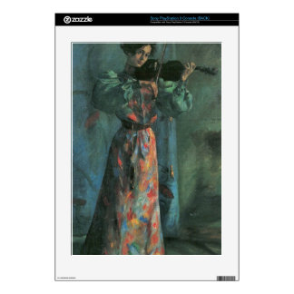 The violin player by Lovis Corinth PS3 Decals