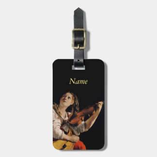 The Violin Player Luggage Tag