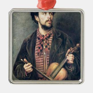 The Violin Player Metal Ornament