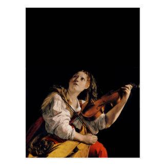 The Violin Player Postcard