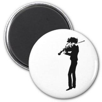 The Violinist 2 Inch Round Magnet