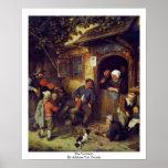 The Violinist. By Adriaen Van Ostade Print